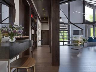 Eclectic style corridor, hallway & stairs by rudakova.ru Eclectic