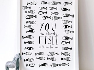 You are the only fish in the sea print Karin Åkesson Design ArtworkPictures & paintings Paper Black