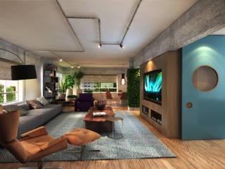 residência CE: Salas de estar  por Studio Marcio Michaluá