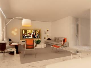 residência CFR: Salas de estar  por Studio Marcio Michaluá
