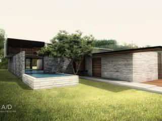Casa AG Casas modernas de AD ARQUITECTOS Moderno