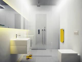 Baños de estilo moderno de Majchrzak Pracownia Projektowa Moderno