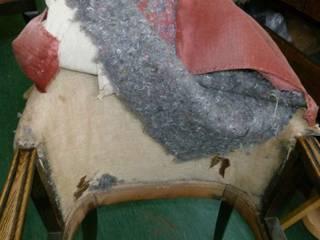 Restaurierung: Eichenholz-Polstersessel:   von werkstatt+atelier petra hemmers