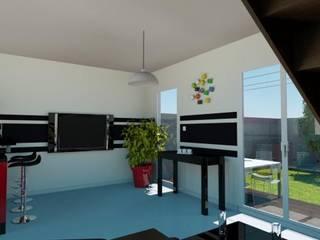 Maison de ville 65 m² Salon moderne par Agence 3Dimensions Moderne