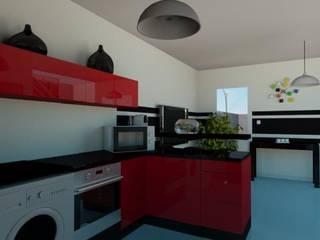 Maison de ville 65 m² Cuisine moderne par Agence 3Dimensions Moderne