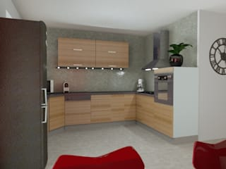 T3 70 m² Cuisine moderne par Agence 3Dimensions Moderne