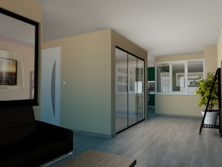 Transformation containers en showroom menuiseries Fenêtres & Portes modernes par Agence 3Dimensions Moderne