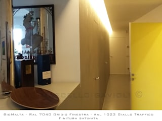 Marcello Gavioli Pasillos, halls y escaleras minimalistas Gris