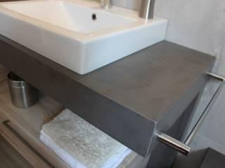 Meuble vasque béton ciré par ATLANTIC BAIN Industriel