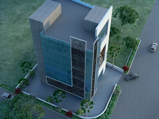 Office Building - Competition Modern office buildings by Sthaptya Vishwa Project Consultants Modern