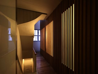 St Michaels Street Modern corridor, hallway & stairs by Henning Stummel Architects Ltd Modern