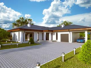 Projekty domów - House 17/17.1 Majchrzak Pracownia Projektowa Nowoczesne domy