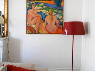 Agencement Appartement Parisien Haussmanien: Salon de style de style Moderne par Bulles Concept - Visualisation & Personnalisation de votre intérieur