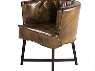 Zeitloser Vintage Sessel aus Büffelleder. von Woodzs Ausgefallen