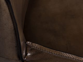 """Zeitloser Vintage Stuhl """" Sheridan"""" mit Armlehnen Woodzs KücheTische und Sitzmöbel Leder"""