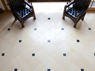 Lincolnshire Limestone flooring with a Artisan Aged Finish from Artisans of Devizes.:  Walls by Artisans of Devizes