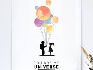 """Kunstdruck """"you are my universe"""":   von Formart - Zeit für Schönes!"""