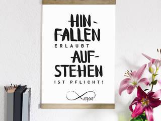 """Kunstdruck """"Hinfallen erlaubt, aufstehen ist Pflicht!"""":   von Formart - Zeit für Schönes!"""