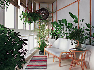 студия дизайна 'Крендель'의  실내 정원,