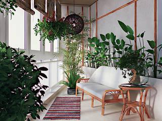 Jardin d'hiver moderne par студия дизайна 'Крендель' Moderne