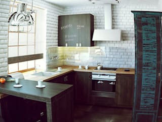 Valeria Ganina Industrial style kitchen