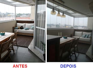 VARANDA GOURMET Varandas, alpendres e terraços modernos por Nanci Pedro Arquitetura Moderno