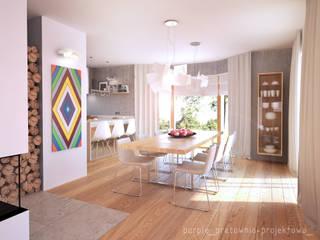 Jadalnia: styl , w kategorii  zaprojektowany przez Pracownia Purple