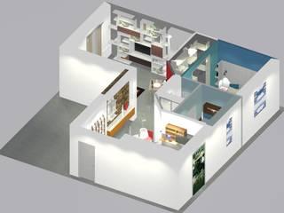 Progetto ristrutturazione appartamento di Bludiprussia design Moderno
