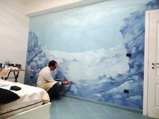 Come affondare una camera da letto Pareti & Pavimenti in stile moderno di Sergio Morfea Moderno