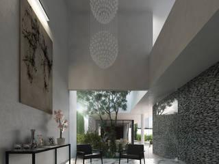 TNGNT arquitectos Koridor & Tangga Modern