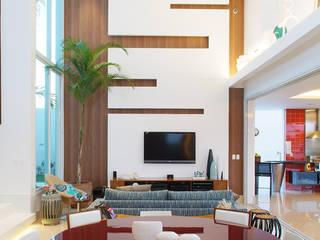 360arquitetura Salas de estilo minimalista