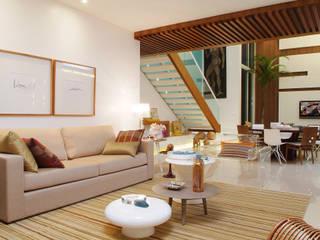 minimalistic Living room by 360arquitetura
