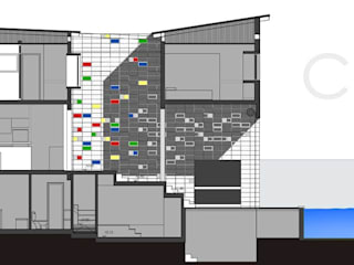 Casa Am 518:  de estilo  por Rr+a  bureau de arquitectos