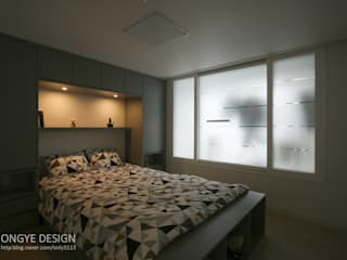 거실의 서재화 , 은혜로운 집 _ 25py 모던스타일 침실 by 홍예디자인 모던