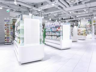 Millennium Apotheke Moderne Geschäftsräume & Stores von Studio Thörnblom Modern