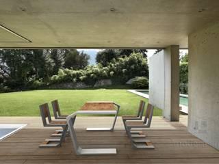 Betonowe meble: styl , w kategorii Taras zaprojektowany przez Modern Line