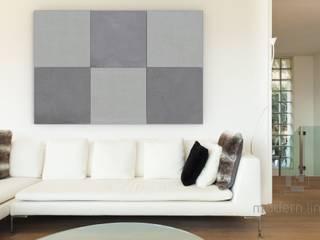 Płyty z betonu architekotnicznego: styl , w kategorii Ściany zaprojektowany przez Modern Line