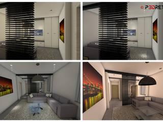 Render interni Soggiorno moderno di P3dretti Moderno