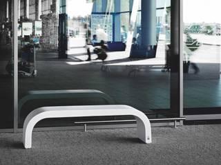 Betonowe ławki.: styl , w kategorii Taras zaprojektowany przez Modern Line