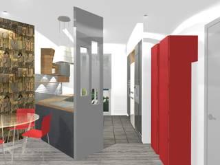 Progetto ristrutturazione appartamento Cucina moderna di Bludiprussia design Moderno