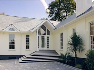 Neo Classical Design For New Build Family Home Marvin Windows and Doors UK Pintu & Jendela Gaya Klasik