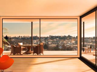 Wohnen mit direkter Verbindung nach Aussen:  Fenster von ARCHITEKTURBÜRO KADEN