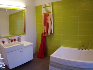 Dom kobiecy: styl , w kategorii Łazienka zaprojektowany przez Pegaz Design