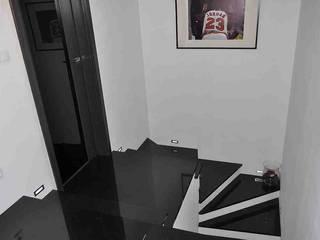 Schody z kamienia naturalnego - granitowe schody - czarny granit na stopnie od Merkam - Łódź ul. Św. Jerzego 9 Klasyczny