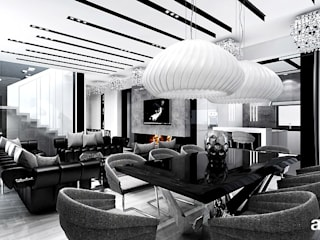 ARTDESIGN architektura wnętrz Comedores de estilo moderno