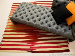 Hin und Weg -  Erdbeer-Grün:   von Beate von Harten Atelier für Textildesign