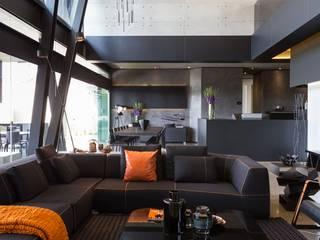 Projekty,  Salon zaprojektowane przez Nico Van Der Meulen Architects