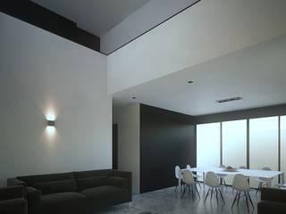 Casa Lomas II Salones minimalistas de RTstudio Minimalista