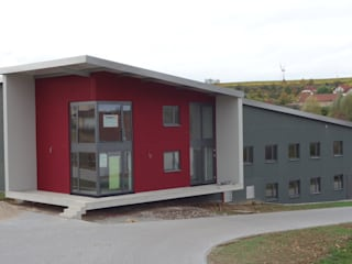 Weingut Neiss Moderne Geschäftsräume & Stores von Burgey Bau GmbH Modern