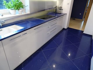 Merkam - Łódź ul. Św. Jerzego 9 KitchenBench tops Stone Blue